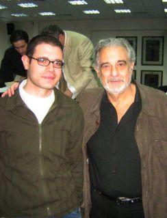 With Plácido Domingo